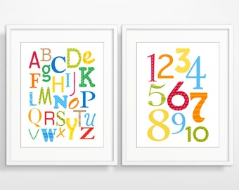 Nursery Wall Art, Nursery Decor, Alphabet Poster, Kids Wall Art, Children's Art