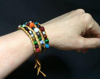 Glass Multi-beaded Bracelet