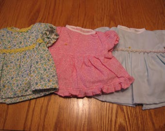 3 Bitty Baby Dresses/Outfits for the price of 1     SALE