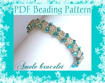 DIY Photo Tutorial Amelìe bracelet / PDF tutorial with detailed instructions and photos  / Cubic Right Angle Weave / RAW 3D