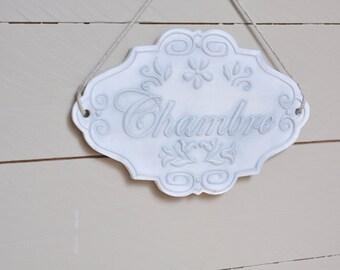 'Chamber' ceramic door plate