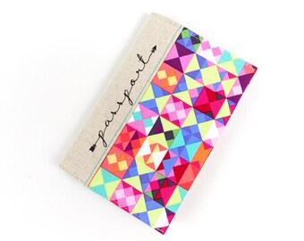 Fabric Cover for Passport, Teen Girl Gift, Travel Document Holder, Vegan Passport Cover, Cute Passport Holder, Travel Gift