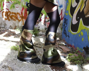 Leggings with laced 'emi-Zion' camouflage underground clothing