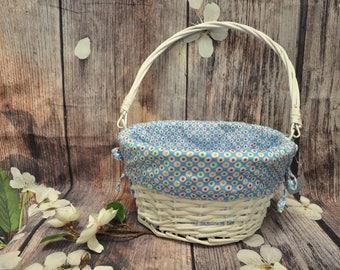 Easter Basket, Personalized Easter Basket, Wicker Easter Basket, Monogram Easter Basket, Personalizable Easter Basket, Wicker Basket