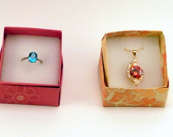 40 Small Jewelry Boxes with Foam Insert , Gift Box, Origami  Box, Favor Box, Hand Made Box