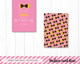 Printable - The 'Emma' Birthday Invitation | Wiggles Invitation | Bow | Photo