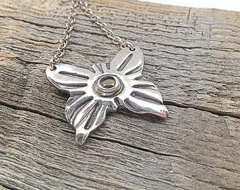 Butterflies Are The Heaven Sent Kisses of an Angel - Handmade Silver Butterfly Necklace - Precious Metal Clay Jewelry