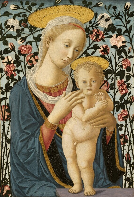 Madonna and Child Jesus Christ Virgin Mary print Catholic art