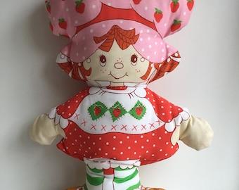 Original Vintage STRAWBERRY SHORTCAKE Pillow Doll