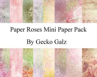 Paper Roses Mini Paper Pack