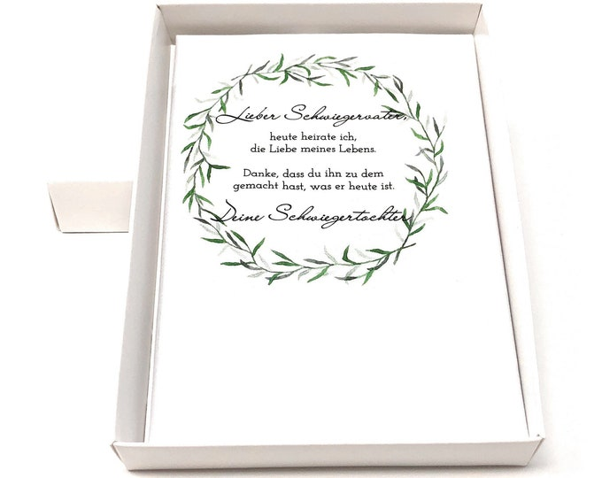 Wedding gift Father in law-handkerchief for tears of joy-gift for wedding-Thanksgiving