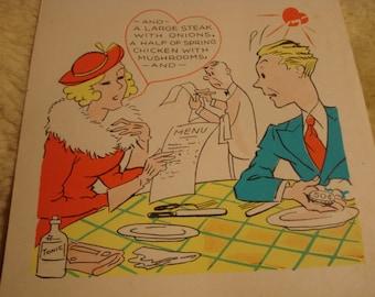 Vintage Fifties Paper Valentine TABLE ARTIST