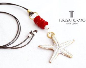 Sea star pendant, very Mediterranean...!! Pendant long-pendant starfish-pendant star-necklace boho-pendant beach