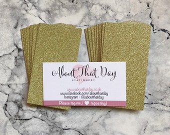 Glitter Back Business cards for small business (pack of 40)