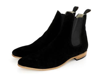 Black Suede Paul Boots