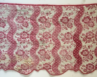 Beautiful 18th C. French Quilted Linen Block Print (2330)