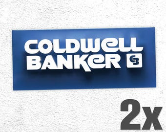 2x COLDWELL BANKER Sticker & Decal