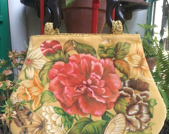 Hand Painted fabric Bag