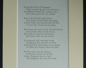 Rudyard Kipling Poetry Print from His Just So Stories for Little Children Edwardian literature poem, verse from 'How the Alphabet was Made'