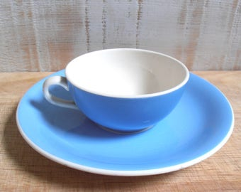 Cup and saucer ceramic Villeroy and Boch blue celestial