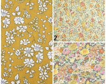 Yellow Pocket Square, Liberty of london pocket square, handkerchief, custom pockets square, floral pocket square, mustard, wedding hankie