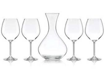 Wine Decanter Set Custom Etched (5 Piece Set) - Wine Set Design