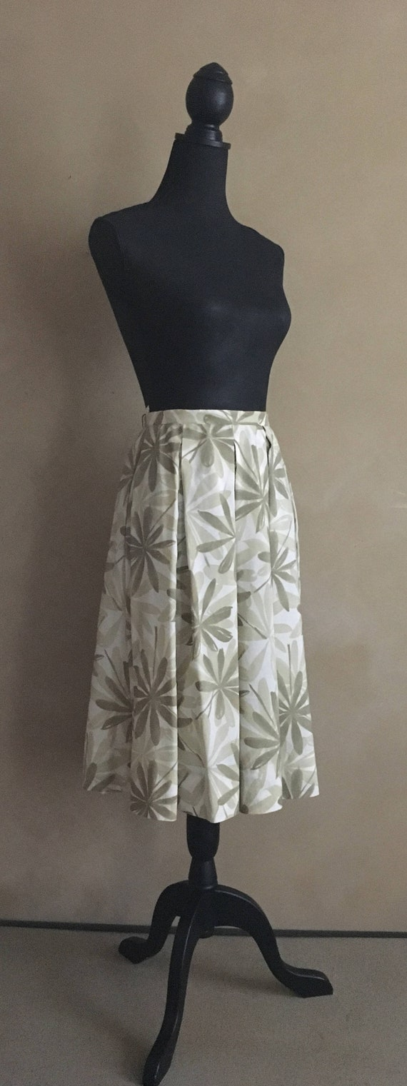 Vintage 50's Tropical Print Skirt with matching Jacket