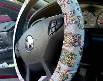 Owls Steering Wheel Cover