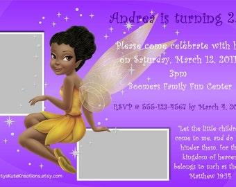 Disney's Fairy Birthday Invite AND Thank you card set