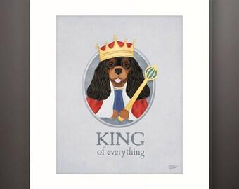 Cavalier King Charles Spaniel Boy Dog Matted 8x10 Art Print - Fits 11x14 Frame