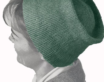 Vintage Knitted Fez Pattern