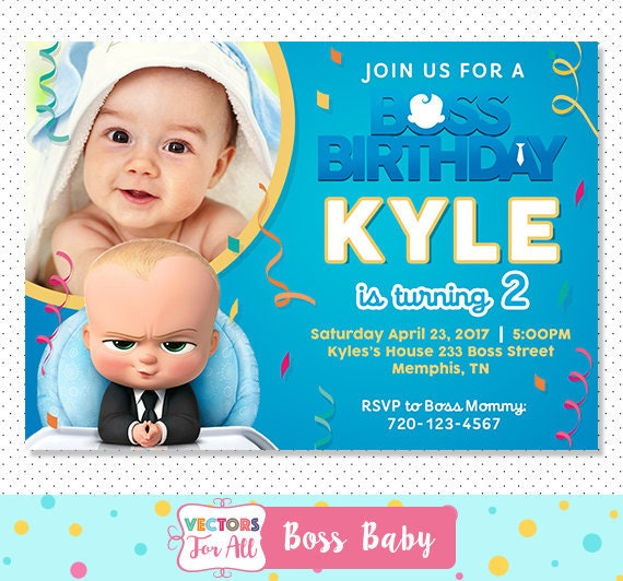 Free Boss Baby Cake Topper