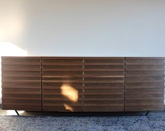 Modern Walnut + Metal TV Stand