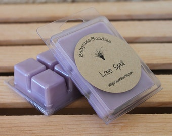 Love Spell Wax Melts - Soy Blended Wax - Wax Cubes - Wax Tarts - Hand Poured - Gift Idea