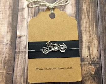 Motorcycle Lapel Pin / Tie Tack - Silver Tone - Biker Gift