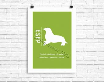 ESFP Minimalist Poster | Myers Briggs Poster | Personality Type Poster | The Entertainer 11x17