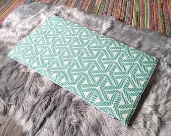 IKEA STUVA Bench Pad Slip Cover, Outdoor Aqua Blue Nautical Rope Print, Ready to Ship