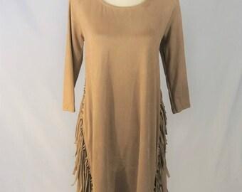 Suede, Fringe Dress