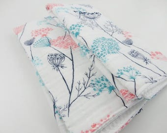 Set of 2 Dish Towels - Queen Anne's Lace - Made to Order
