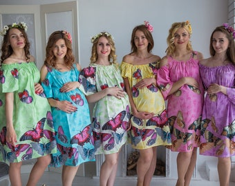 Butterfly Maternity Shift Dresses, Maternity Summer Dress, Workwear, Pregnancy Dress, Maternity Tunic, Sundress, Baby Shower Gift