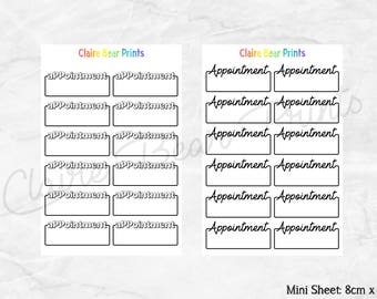 APPOINTMENT BOX Planner Stickers (2 options)