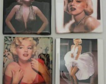 Marilyn Monroe Coasters/Coasters/Gift for Her/Housewarming Gift/Marilyn Monroe Decor
