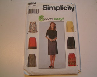 Simplicity Pattern 8664 easy Miss Skirt Miss 4 6 8