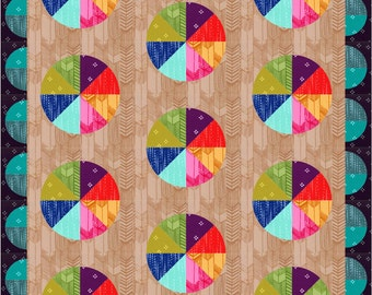 Instant Download - PDF Sewing Pattern - Spinners - Fat Quarter Friendly