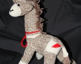 Handmade Mini Sock Monkey Giraffe