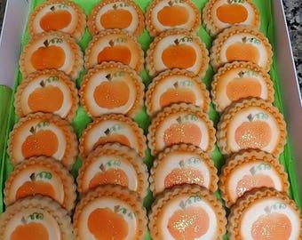 Fall Themed Pumpkin Cookies