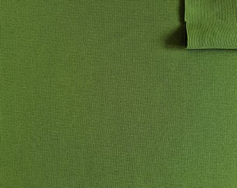 "Vintage Fabric 70's Olive Green, Polyester, Textiles (62""x25 1/2"")"