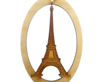 EIFFEL TOWER Ornament - Paris Ornaments - Eiffel Tower Gifts  - Eiffel Tower Decor - Paris Gifts - Paris Decor - Personalized Free