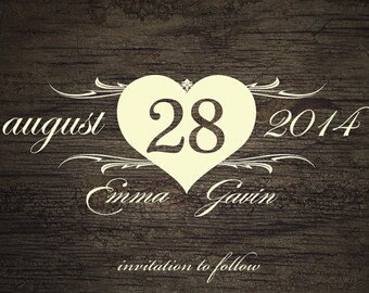 Save The Date Magnet or Card
