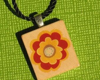 Daisy - Scrabble Tile Pendant Necklace